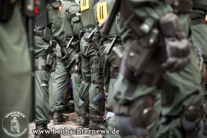 Abdrängen durch Polizei