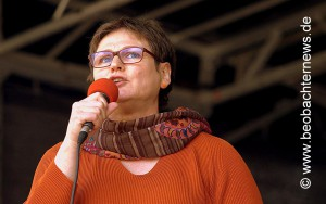 Leni Breymaier, ver.di Landesbezirksleiterin in Baden-Württemberg