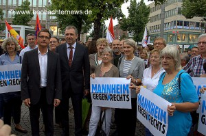 Antifaschistische Kundgebung Bündnis gegen Rechts Mannheim 21.07.2014