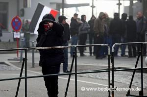 Nazi-Kundgebung am 3. März 2012 vor dem Göppinger Bahnhof