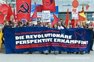 Demospitze der revolutionären Demo