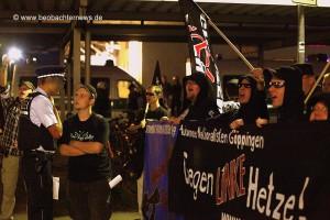 Demonstrationsversuch der Neonazis am 16. September 2011 in Leonberg