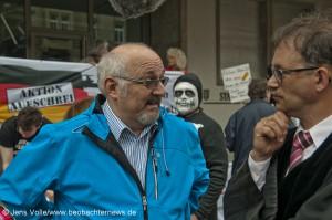 Jürgen Grässlin und Rechtsanwalt Holger Rothbauer