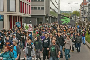Marijuana-March 2015 in Stuttgart