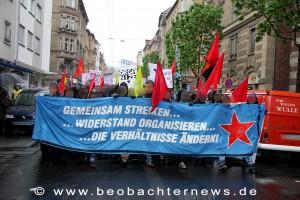 Antikapitalistischer Block auf der DGB-Demo