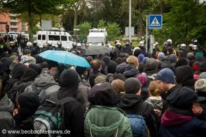Blockade am Kreisel