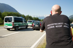 Im Einsatz bei den G7-Protesten in Garmisch