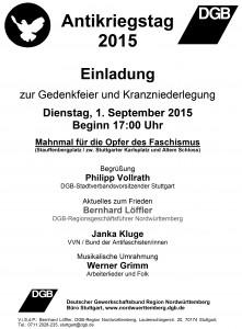 Antikriegstag 2015 Stuttgart