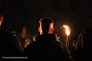 Fackel-Nazis auf dem Pforzheimer Wartberg