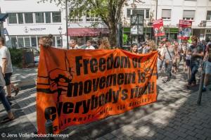 Kundgebung am 29.08.2015 in Backnang anlässlich von brennendem Flüchtlingsheim in Weissach