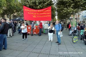 Protest auf dem Stuttgarter Schloßplatz