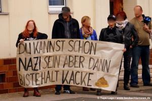 EinwohnerInnen wehren sich gegen den rechten Mob