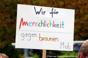 Klare Botschaft gegen braunen Mob