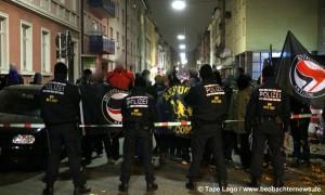 Laustarker Protest der Antifa