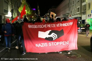 Spontane Demonstration der Antifa