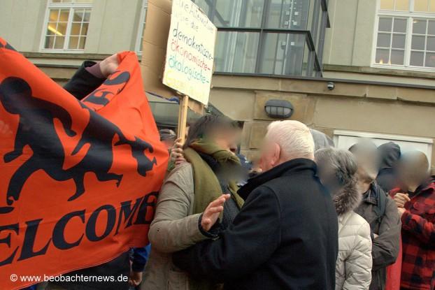 AfD-Anhänger wurden teilweise handgreiflich