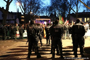 Großes Polizeiaufgebot für den Schutz der AfD