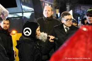 Melanie Dittmer, Anmelderin der rechten Demonstration