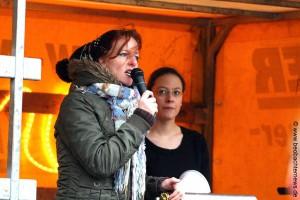 Sigrid Schüßler beim Hetzen gegen die Presse