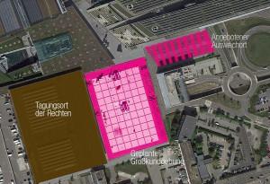 Lageplan Messe / Foto: Aktionsbündnis gegen den AfD-Bundesparteitag