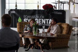 """Präsentation des """"Schwarzbuch Syngenta"""" mit dem MST-Aktivisten Celso Ribeiro Barbosa aus Brasilien"""