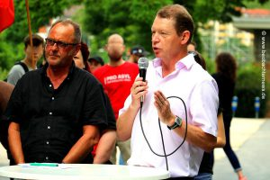 Michael Hüttner , SPD (rechts) und Ingo Rochus Schmidt, Die Linke