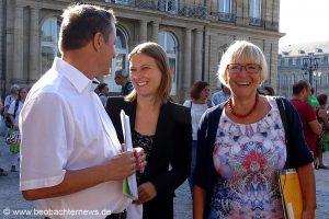 v.l. Martin Gross Ver.di, Sarah Händel Mehr Demokratie, Dr. Brigitte Dahlbender BUND