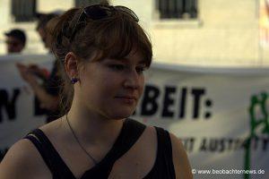 Hannah Eberle von Blockupy