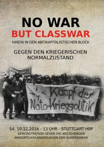 Plakat vom Arbeitskreis Internationalismus Stuttgart