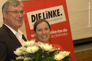 Johanna Tiarks und Bernd Riexinger - für den Wahlkreis 259 Stuttgart nominiert